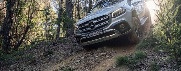 Mercedes-Benz X-Class descending a ravine