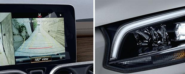 Mercedes-Benz X-Class Interior screen and headlights