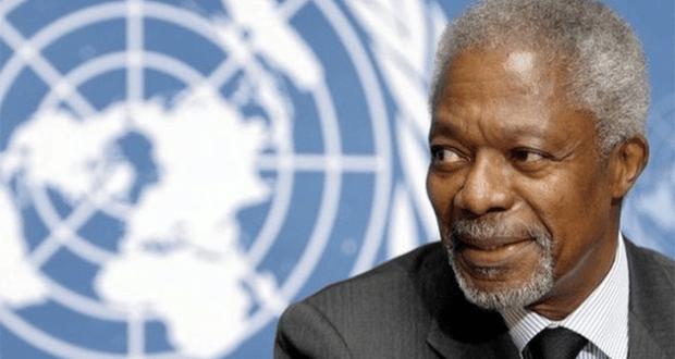 Kofi Annan, former United Nations (UN) Secretary General. 1938-2018.