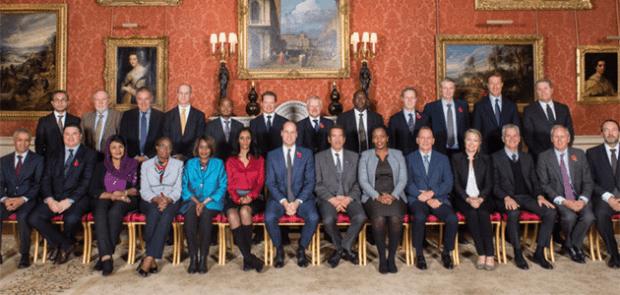 Gathering at Buckingham Palace