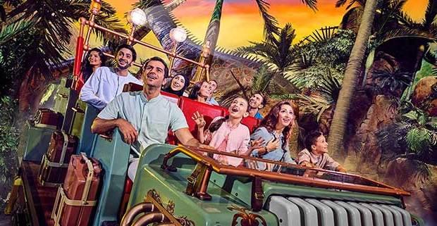 Tourists on a fun ride in Dubai