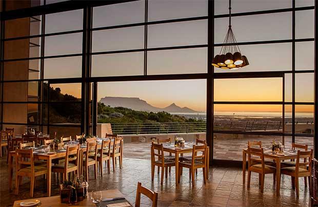 Durbanville Hills Restaurant at sunset