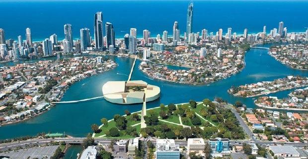 Aerial view of Australia's Gold Coast