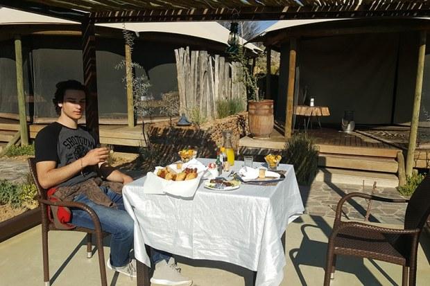 Dining platform at Kuganha Tented Camp