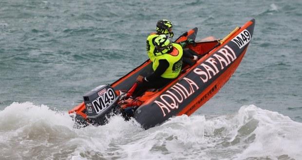 Aquila Safari Trans Agulhas Challenge boat on a wave