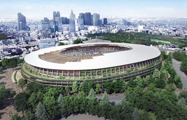 Stadium in Shinjuku, Tokyo, Japan