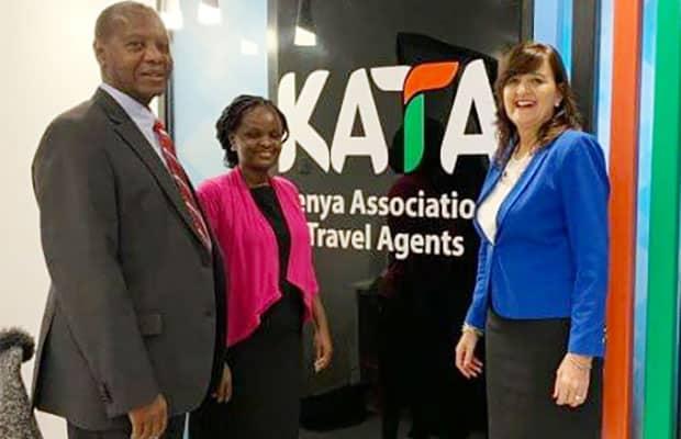 African Tourism Board CEO Doris Wortel with KATA staff