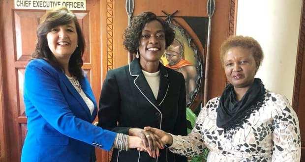 African Tourism Board CEO Doris Wortel with Kenya Tourism dignitaries