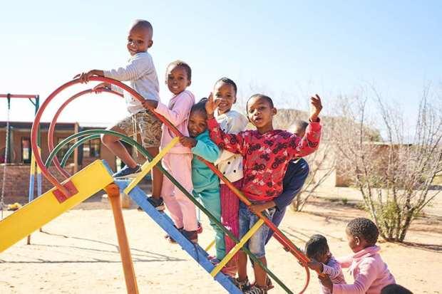 Community children at Tswalu Kalahari