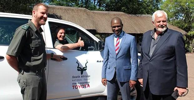 Toyota Donates 4x4 for SANParks Anti-Poaching