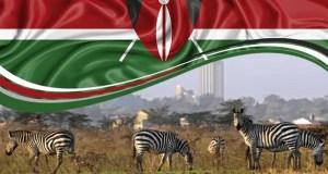 Kenya fag over Nairobi National Park