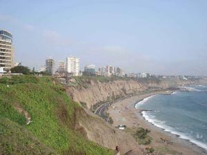 The desert coast of Lima in Peru