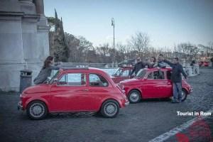 Rom Paola Brunnen Fiat 500