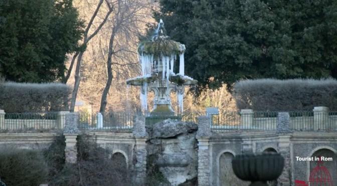 Eis und Schnee in Rom