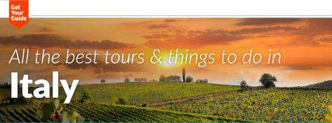 Getyourguide Italy online booking