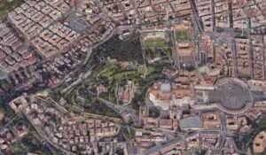 Vatikanstadt Vogelperspektive