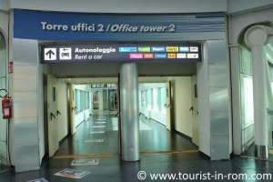 Car rental offices in Rome Fiumicino airport
