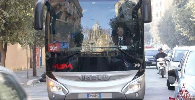 Stadtverkehr Rom Petersdom Spiegelung