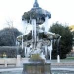 Fontana del Giglio ghiaccio Villa Pamphili