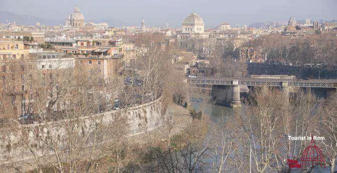 Rom im Winter Blick vom Orangengarten Rome in winter view from the giardino degli aranci