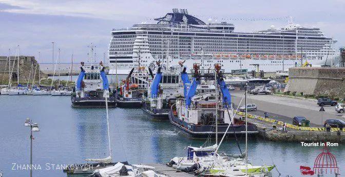 Civitavecchia cruise harbor