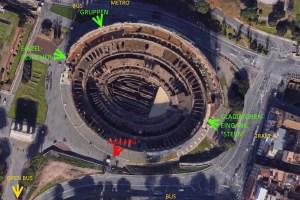 Eingänge beim Kolosseum