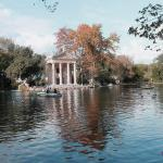 Heat in Rome the Park of Villa Borghese in Rome