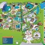 Map of the Zoomarine park Rome