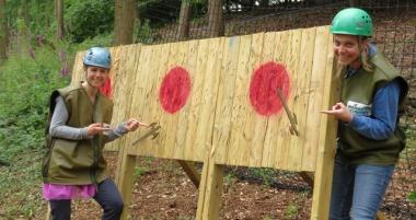 axe throwing in dorset