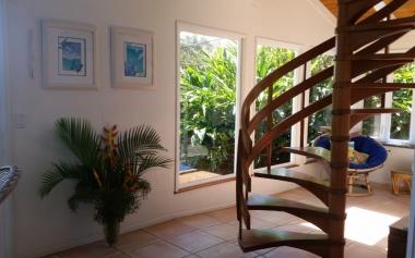 Rainbow Cottage - Handmade Spiral Staircase