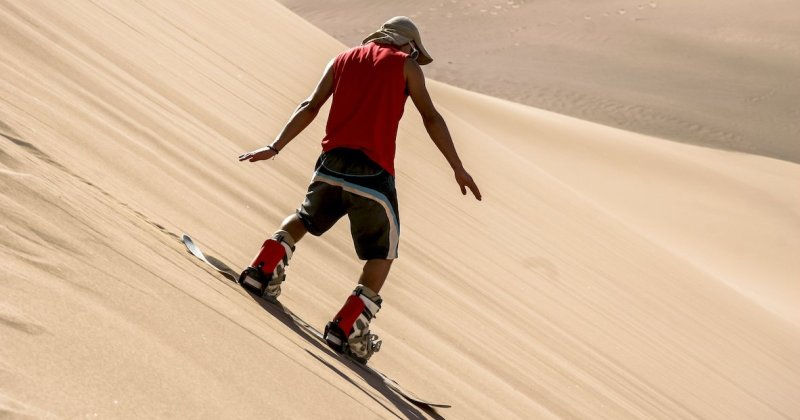 Sandboarding In The Negev Desert