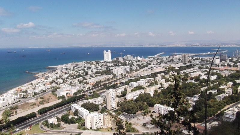 Haifa Cable Cars - View from Stella Maris
