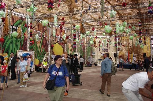 The Safra Square Sukkah By Rachel Sharon, Via Flickr