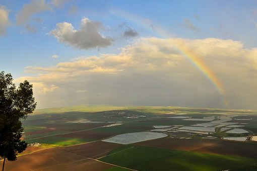 The beautiful and strikingly flat Jezreel Valley. Image: Vad Levin