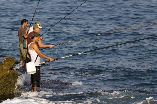 Fishing at Achziv. Image Uzi Yachin via Flickr