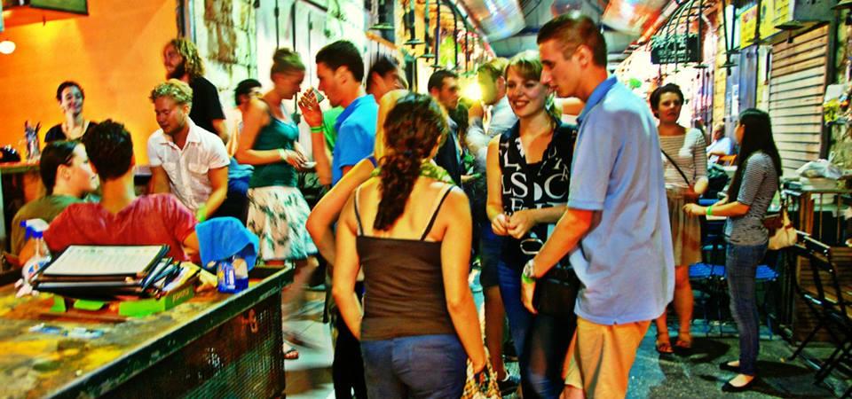 Nightlife scene in the Machane Yehuda Market