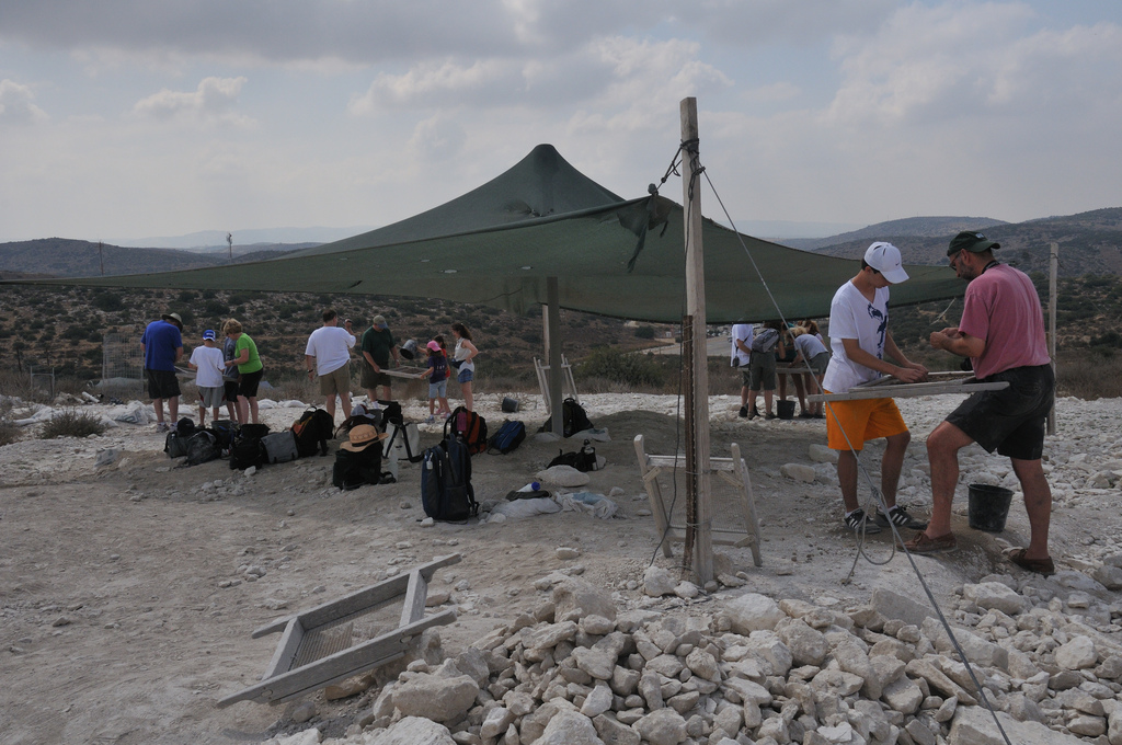 An archeological dig at Beit Guvrin. Courtesy of Scott Ableman.