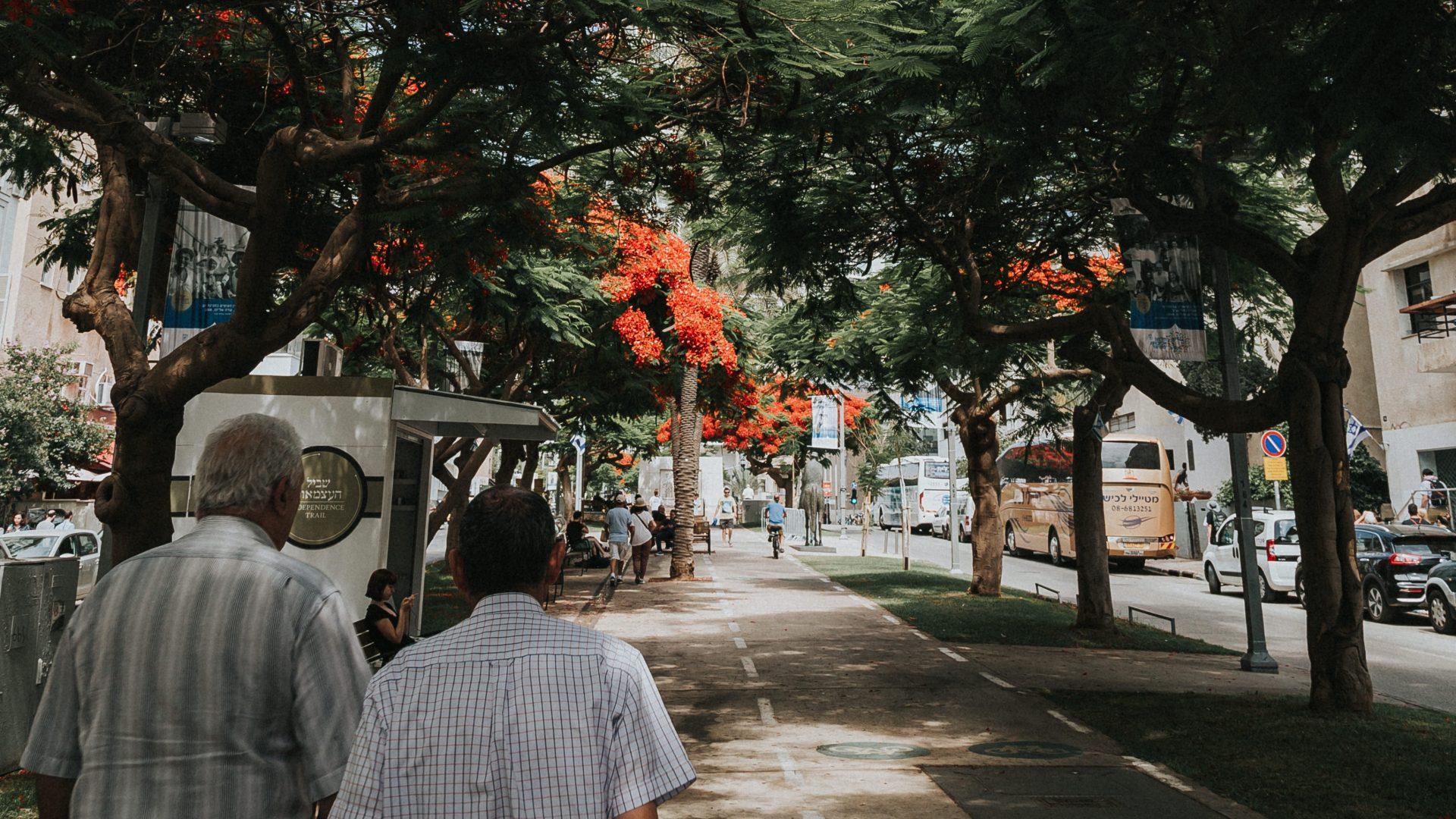 Walking throughout Tel Aviv