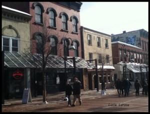 Burlington, Vermon, animateurs de rue, Church street