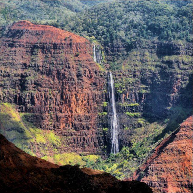 Waipo 'o falls, hiking, Kauai, Hawaii