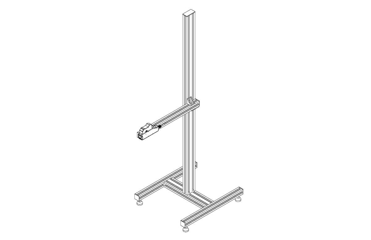 Stand with Fixed Arm and Feet pdf - Stands and Conveyors
