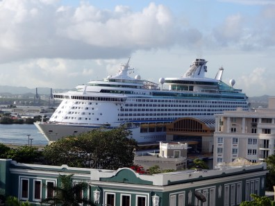 5th Floor View of Cruise Ship Pier