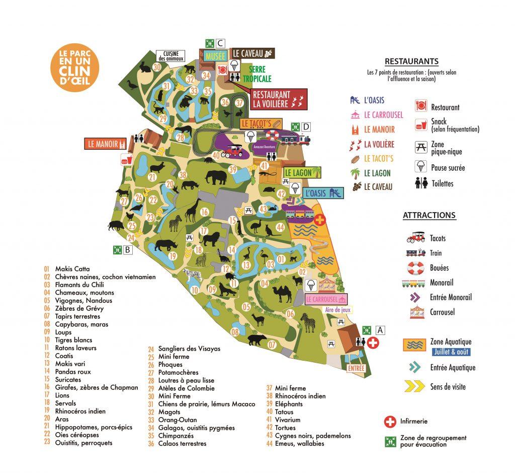 Plan du parc » Touroparc.Zoo » Parc zoologique et d'attractions en  Rhône-Alpes – Bourgogne