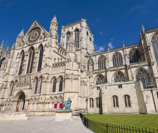 One Of The Two Largest Gothic Cathedrals In Northern Europe Alongside Cologne Cathedral In Germany York Minster Dominates The Skyline Of The Ancient City