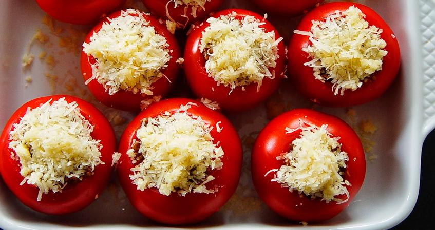 Tomates Recheados Gratinados