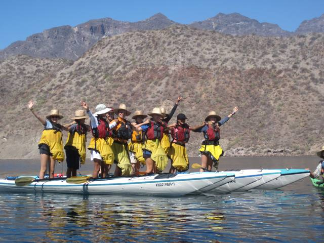 Sea Kayaking trips for class trips
