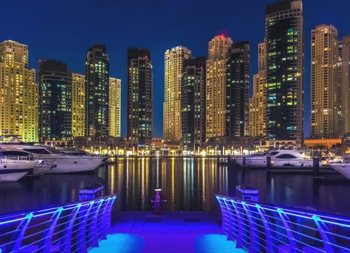 Dubai Marine night view