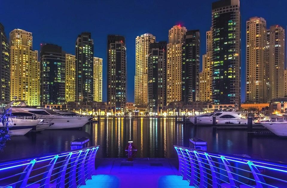 Dubai Marine night view