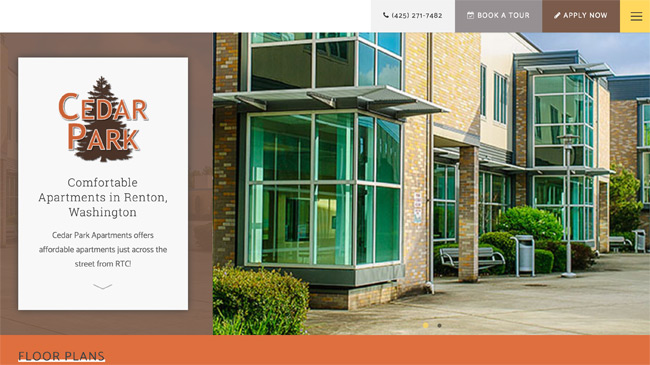 Cedar Park Apartments website