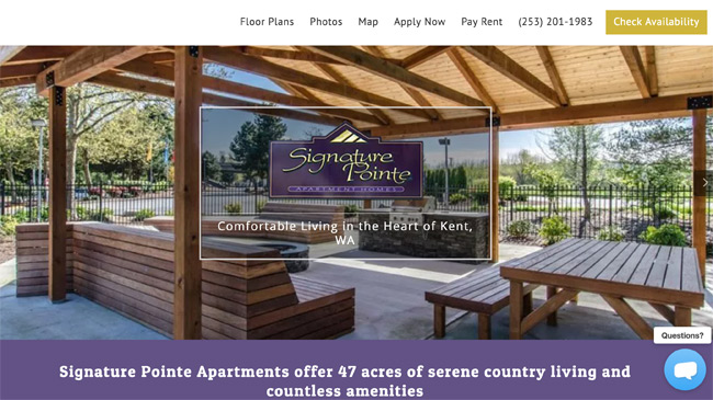 Signature Pointe Apartments website